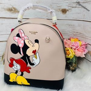 Kate spade NWT Minnie Mouse backpack multi black